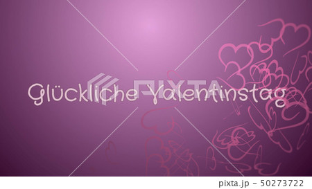 Gluckliche Valentinstag, Happy Valentine's day in german language, greeting card 50273722