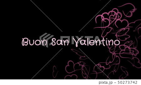 Buon San Valentino, Happy Valentine's day in italian language, greeting card 50273742