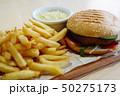 ハンバーガー バーガー チシャの写真 50275173
