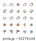 Icon set - weather and forecast full color 50276148