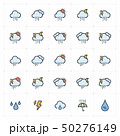 Icon set - weather and forecast full color 50276149