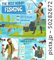 Fishing adventure, fisher fish catch equipment 50282672