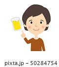 酒 ビール 指差しのイラスト 50284754