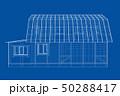 設計図 建物 ベクトルのイラスト 50288417