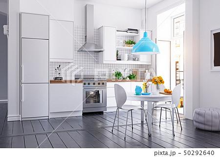 modern scandinavian style kitchen interior. 50292640
