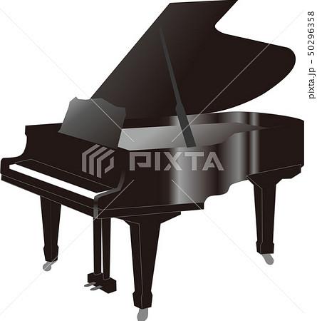ピアノ(グランドピアノ)ベクター 50296358