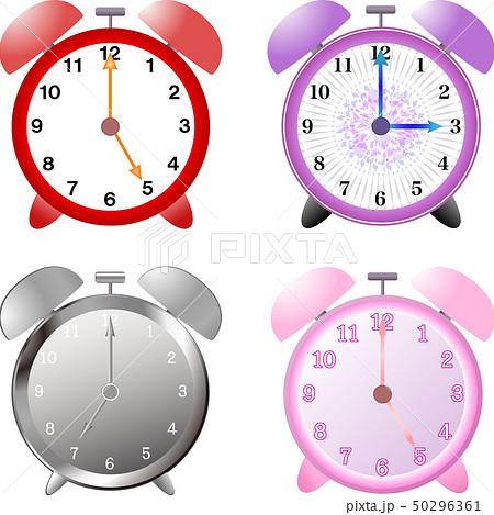 時計(置き時計・4種セット)ベクター 50296361