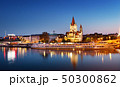 Saint Francis of Assisi Church on Danube in Vienna, Austria at night 50300862