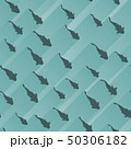 Seamless abstract background with school of fish. 50306182