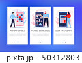 Mobile Banking Banners Set 50312803