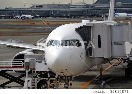 ジェット旅客機の機首部分 50316871