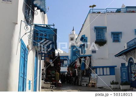 シディ・ブ・サイドの町並み チュニジア チュニス アフリカ 50318015