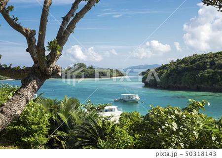 石垣島の川平湾の俯瞰の風景 50318143