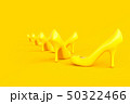 High-heeled shoes yellow color. 50322466