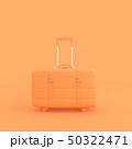 orange suitcase minimal idea concept. 50322471