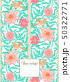 Floral  pattern, background 50322771