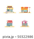 Business store front set flat design vector 50322986