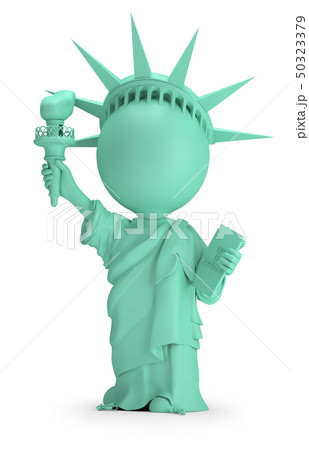 3d small people - Statue of Liberty 50323379