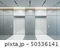 modern elevator with closed doors in office lobby, 50336141