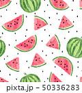 Watercolor watermelons pattern. 50336283