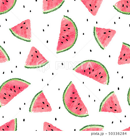 Seamless watermelons pattern. 50336284