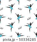 Seamless ballerinas pattern. Ballet background 50336285