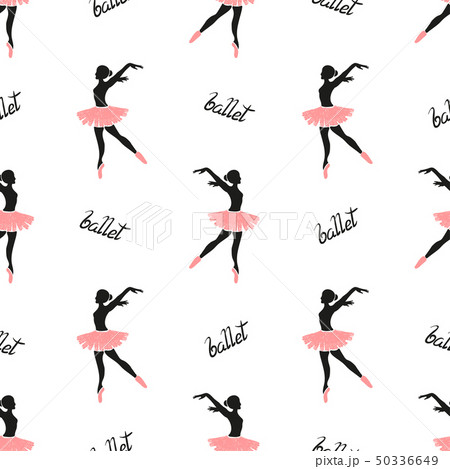 Ballet dancers seamless pattern. 50336649
