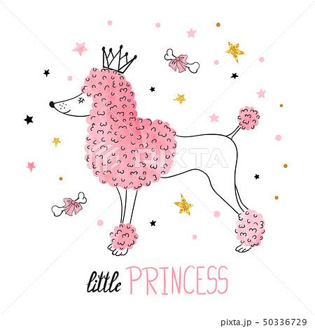 Cute watercolor poodle. 50336729