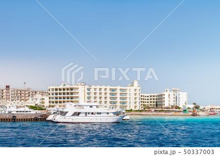 Hurghada coastline with hotel and resort, Egypt 50337003
