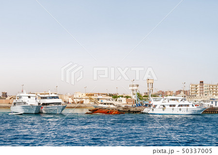 Hurghada coastline with hotels,Egypt 50337005