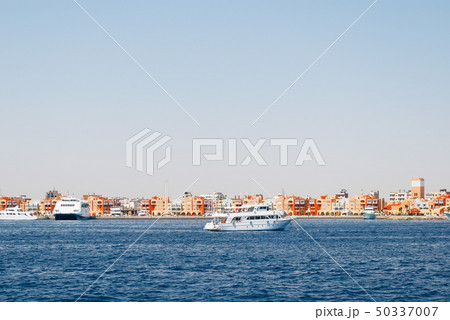 Hurghada coastline with hotel and resort, Egypt 50337007