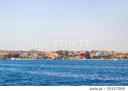 Hurghada coastline with hotel and resort, Egypt 50337008