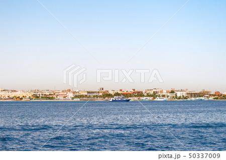 Hurghada coastline with hotel and resort, Egypt 50337009