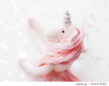 Cute fairy unicorn with a pink mane and a tail 50337036