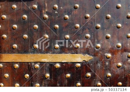 Wooden gate of fort Qaitbay,Alexandria, Egypt. 50337134