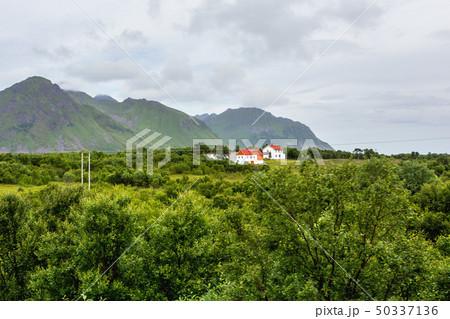Norway scandinavian landscape with meadows 50337136
