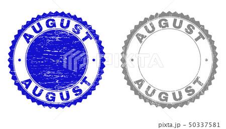 Textured AUGUST Grunge Stamp Seals 50337581