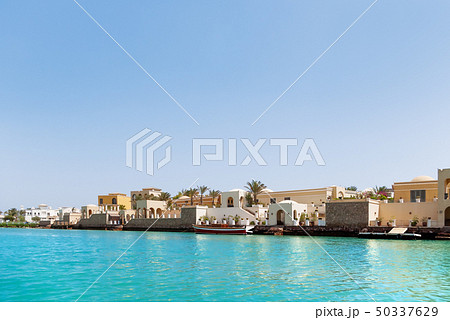 Bungalows near the water in El Gouna, Egypt 50337629