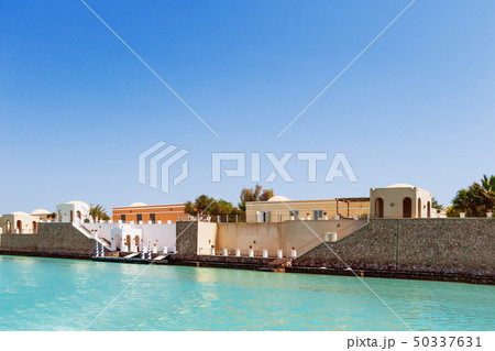 Bungalows near the water in El Gouna, Egypt 50337631