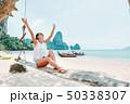 ビーチ 浜辺 ボートの写真 50338307