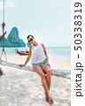 ビーチ 浜辺 ビキニの写真 50338319