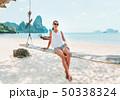 ビーチ 浜辺 ボートの写真 50338324