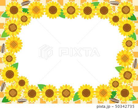 ひまわり17 花 フレーム  50342735