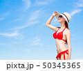 ビーチ 浜辺 ビキニの写真 50345365