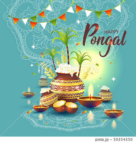 illustration of Happy Pongal Holiday Harvest 50354350
