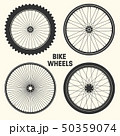 Bicycle wheel symbol vector illustration. Bike rubber mountain tyre, valve. Fitness cycle, mtb 50359074