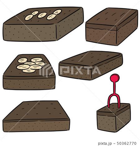 vector set of brownies 50362770