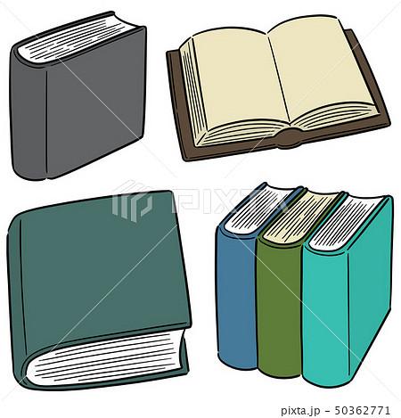 vector set of book 50362771