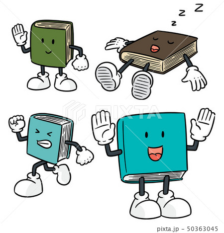 vector set of book cartoon 50363045