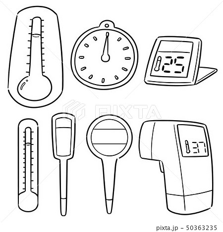 vector set of thermometer 50363235